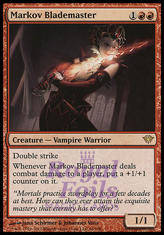 **1x FOIL Markov Blademaster** DKA MTG Dark Ascension Rare NM red