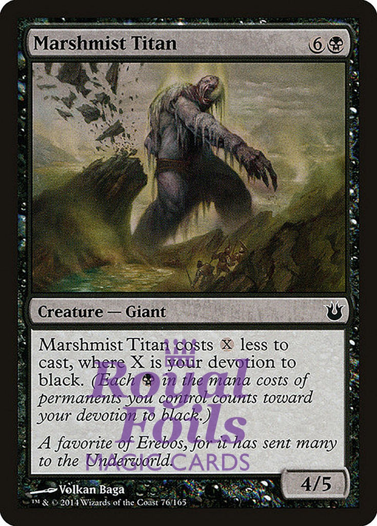 **4x FOIL Marshmist Titan** BNG MTG Born of the Gods Common MINT black