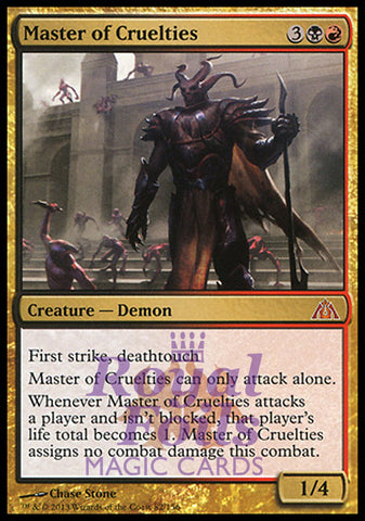 **1x FOIL Master of Cruelties** DGM MTG Dragon's Maze Mythic MINT black red