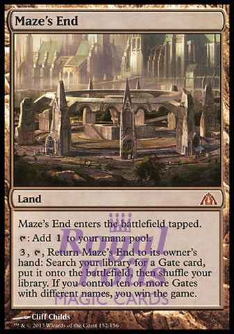 **1x FOIL Maze's End** DGM MTG Dragon's Maze Mythic MINT land