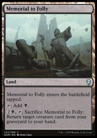 **2x FOIL Memorial to Folly** DOM MTG Dominaria Uncommon MINT black land