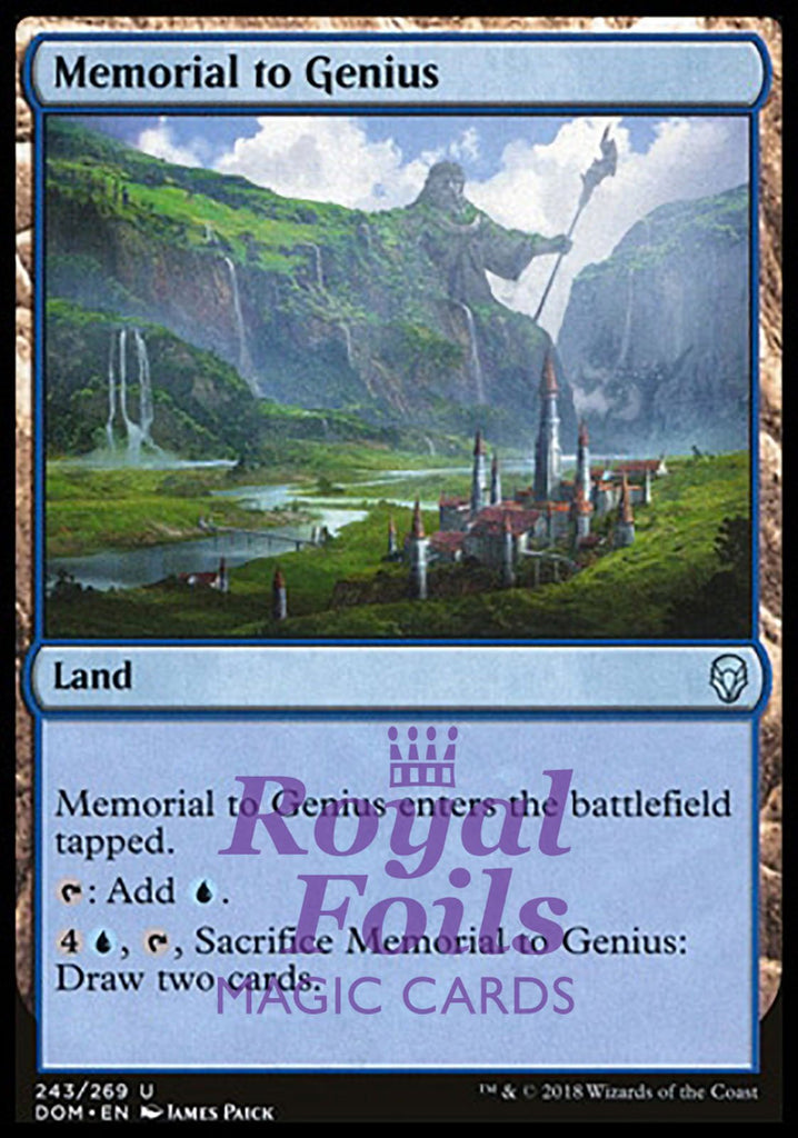 **2x FOIL Memorial to Genius** DOM MTG Dominaria Uncommon MINT blue land