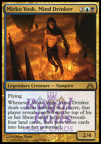 **1x FOIL Mirko Vosk, Mind Drinker** DGM MTG Dragon's Maze Rare MINT blue black