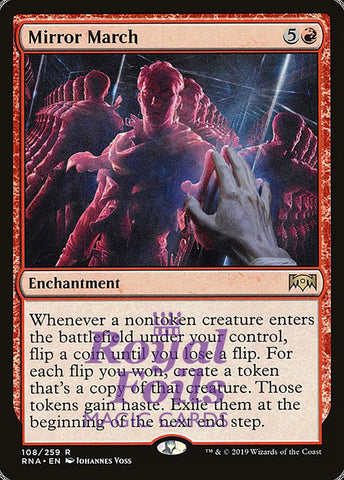 **1x FOIL Mirror March** RNA MTG Ravnica Allegiance Rare MINT red