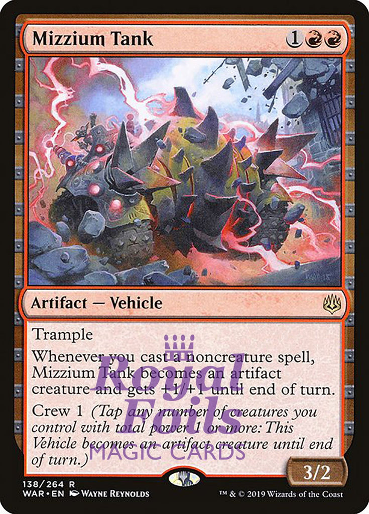 **1x FOIL Mizzium Tank** WAR MTG War of the Spark Rare MINT red