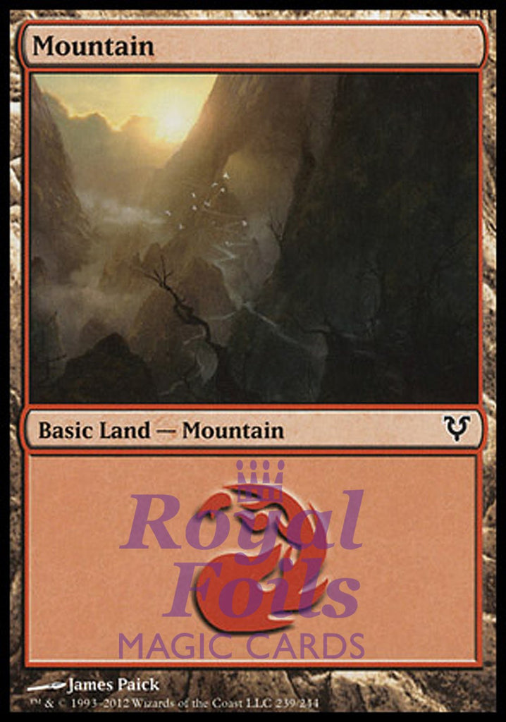 **2x FOIL Mountain #239** AVR MTG Avacyn Restored Basic Land MINT red