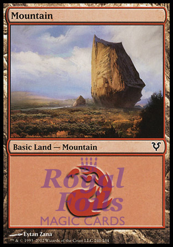 **2x FOIL Mountain #241** AVR MTG Avacyn Restored Basic Land MINT red