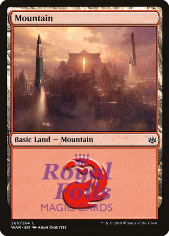 **3x FOIL Mountain #260** WAR MTG War of the Spark Basic Land MINT red