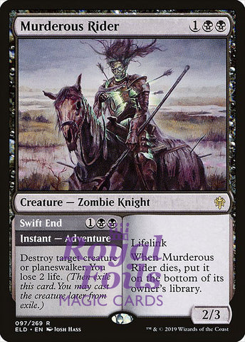 **1x FOIL Murderous Rider** ELD MTG Throne of Eldraine Rare MINT black