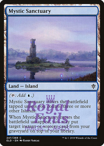 **1x FOIL Mystic Sanctuary** ELD MTG Throne of Eldraine Common MINT blue
