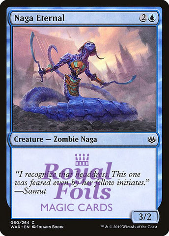 **2x FOIL Naga Eternal** WAR MTG War of the Spark Common MINT blue