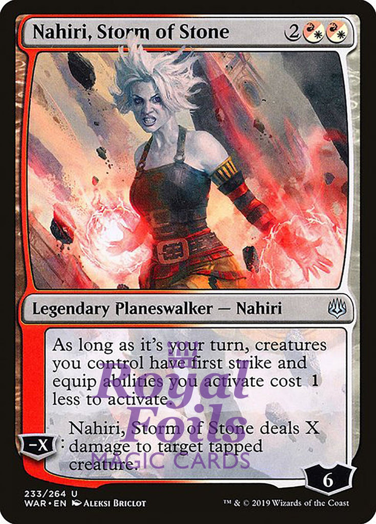 **3x FOIL Nahiri, Storm of Stone** WAR MTG War of the Spark Uncommon MINT red white