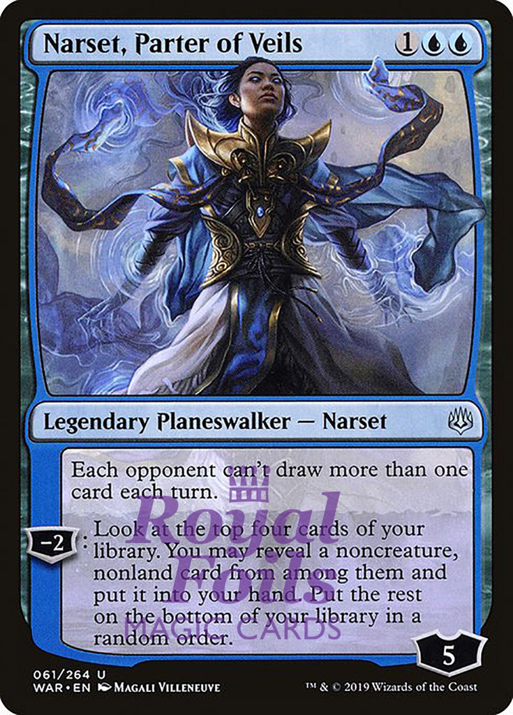 **1x FOIL Narset, Parter of Veils** WAR MTG War of the Spark Uncommon MINT blue