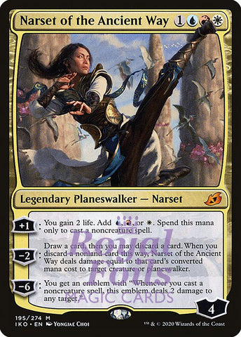 **1x FOIL Narset of the Ancient Way** IKO MTG Ikoria Mythic MINT blue red white