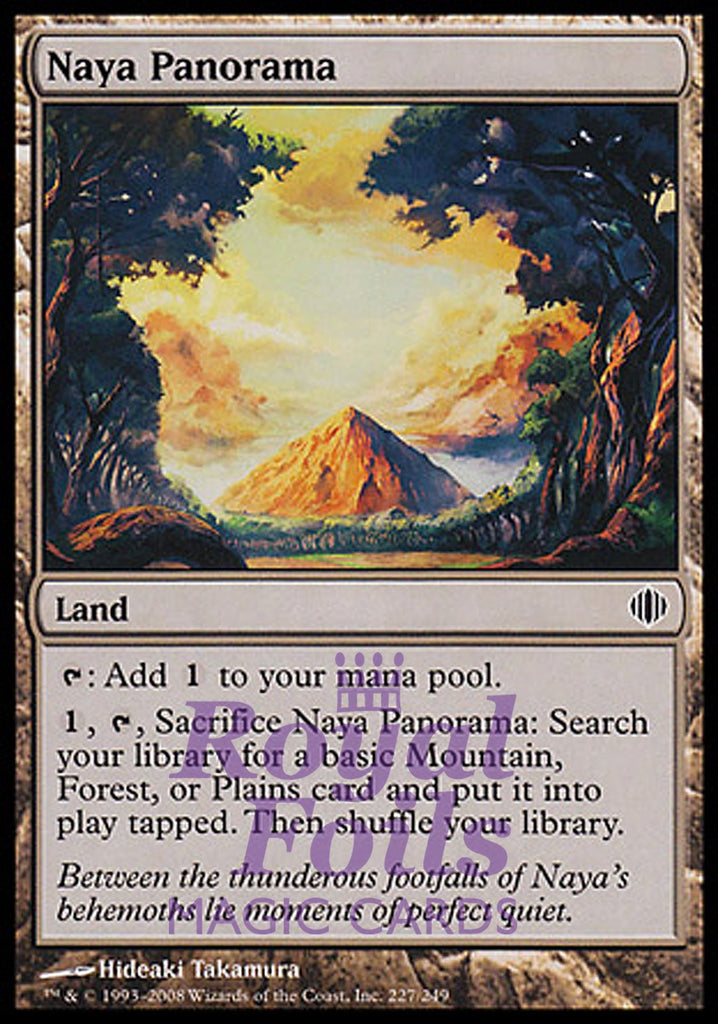 **1x FOIL Naya Panorama** ALA MTG Shards of Alara Common VF red green white land