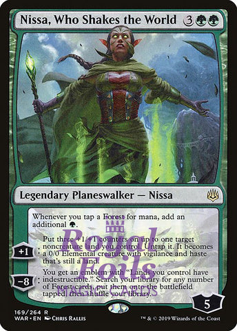 **1x FOIL Nissa, Who Shakes the World** WAR MTG War of the Spark Rare MINT green