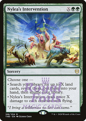 **1x FOIL Nylea's Intervention** THB MTG Theros Beyond Death Rare MINT green