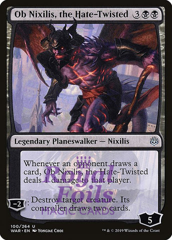 **1x FOIL Ob Nixilis, the Hate-Twisted** WAR MTG War of the Spark Uncommon MINT black