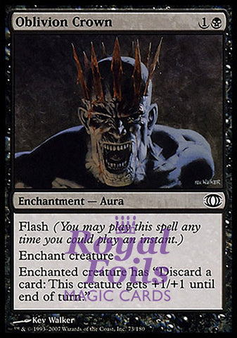 **1x FOIL Oblivion Crown** FUT MTG Future Sight Common NM+ black