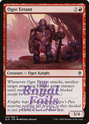 **4x FOIL Ogre Errant** ELD MTG Throne of Eldraine Common MINT red