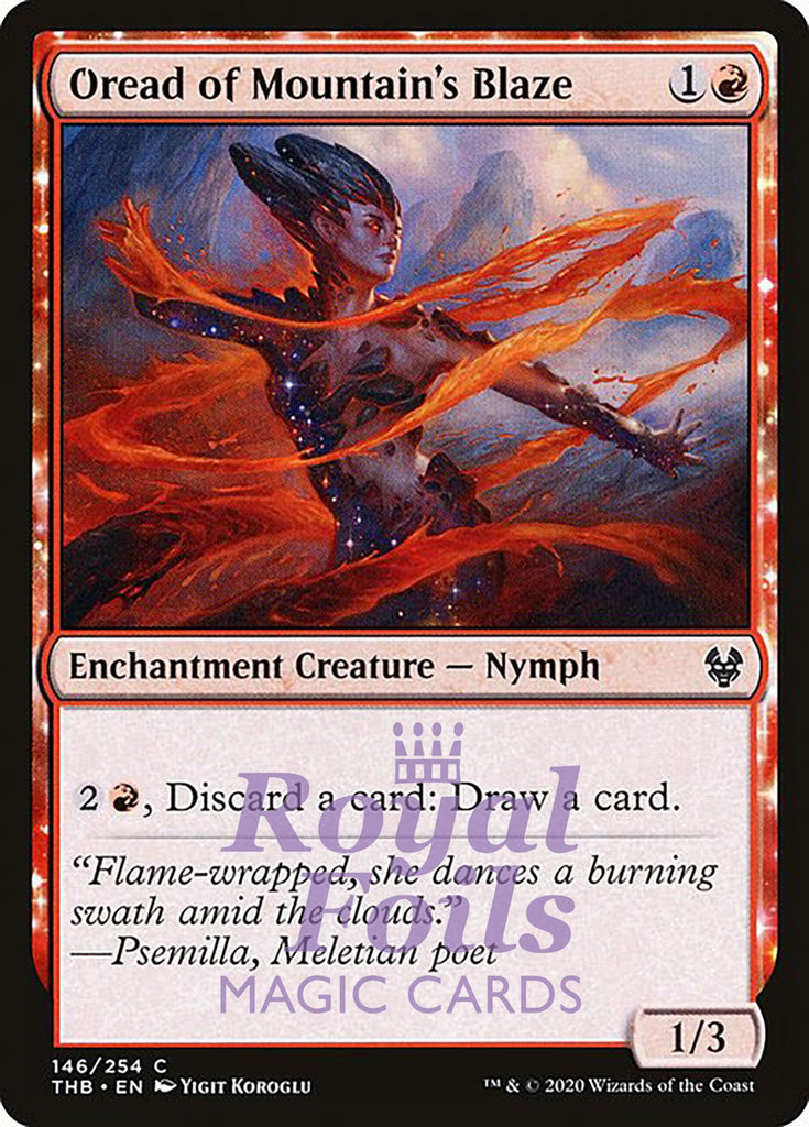**4x FOIL Oread of Mountain's Blaze** THB MTG Theros Beyond Death Common MINT red
