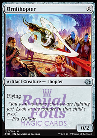 **1x FOIL Ornithopter** AER MTG Aether Revolt Uncommon MINT artifact