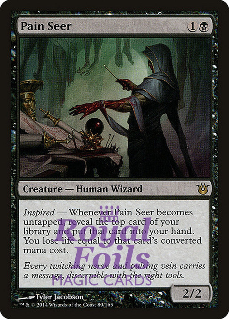 **1x FOIL Pain Seer** BNG MTG Born of the Gods Rare MINT black