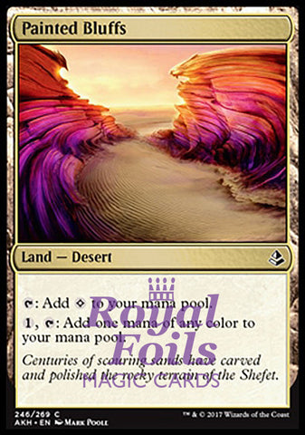 **2x FOIL Painted Bluffs** AKH MTG Amonkhet Common MINT land