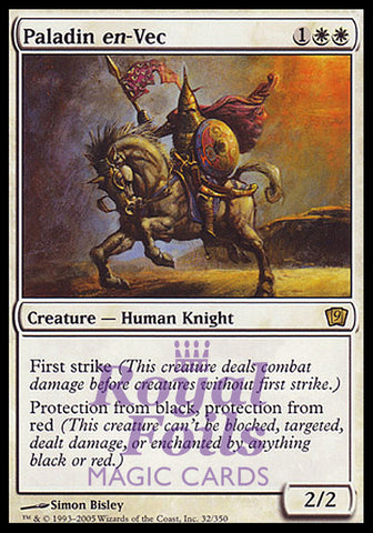 **1x FOIL Paladin en-Vec** MTG 9th Ninth Edition Rare MINT white