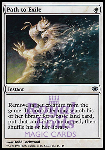 **1x FOIL Path to Exile** CON Conflux Uncommon MINT white