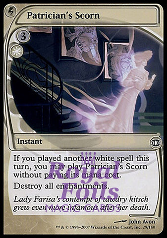 **1x FOIL Patrician's Scorn** FUT MTG Future Sight Common NM+ white