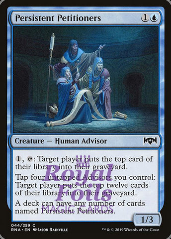 **1x FOIL Persistent Petitioners** RNA MTG Ravnica Allegiance Common MINT blue