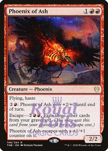 **1x FOIL Phoenix of Ash** THB MTG Theros Beyond Death Rare MINT red