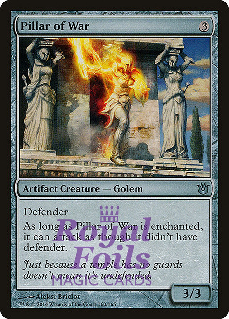 **4x FOIL Pillar of War** BNG MTG Born of the Gods Uncommon MINT artifact