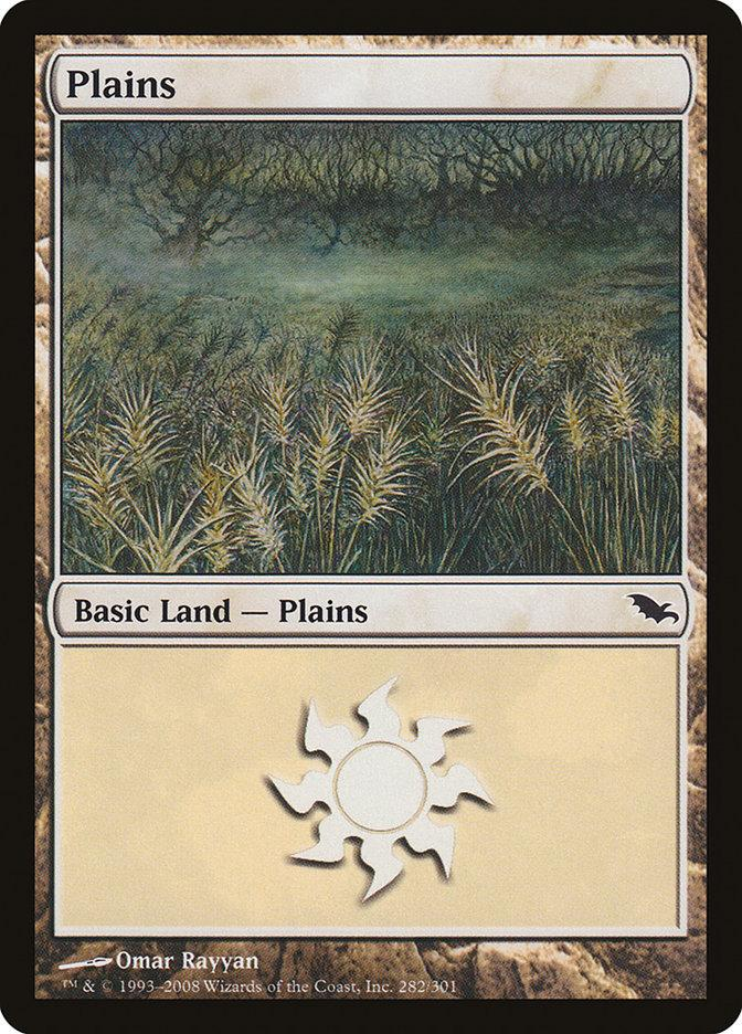 **1x FOIL Plains #282** SHM MTG Shadowmoor Basic Land MINT white
