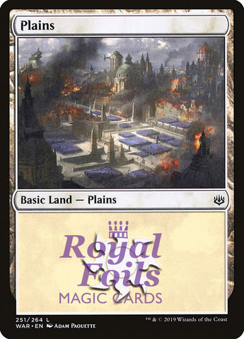 **3x FOIL Plains #251** WAR MTG War of the Spark Basic Land MINT white