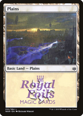 **3x FOIL Plains #252** WAR MTG War of the Spark Basic Land MINT white
