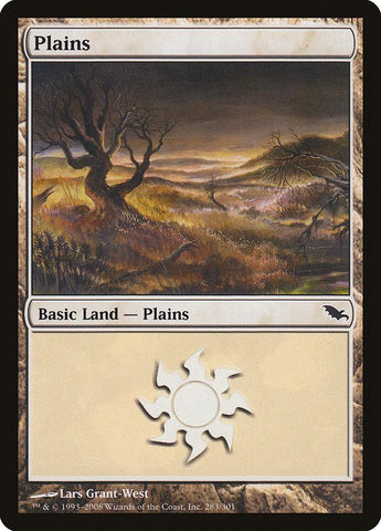 **1x FOIL Plains #283** SHM MTG Shadowmoor Basic Land MINT white