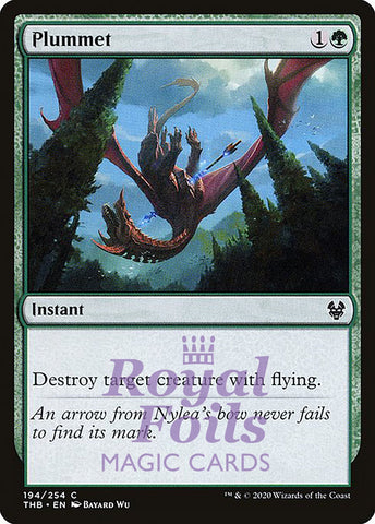 **4x FOIL Plummet** THB MTG Theros Beyond Death Common MINT green