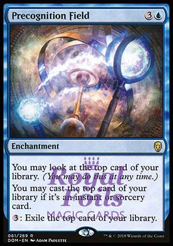 **1x FOIL Precognition Field** DOM MTG Dominaria Rare MINT blue