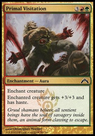 **4x FOIL Primal Visitation** GTC MTG Gatecrash Common MINT red green