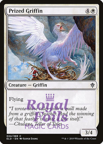 **4x FOIL Prized Griffin** ELD MTG Throne of Eldraine Common MINT white