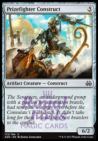 **4x FOIL Prizefighter Construct** AER MTG Aether Revolt Common MINT artifact