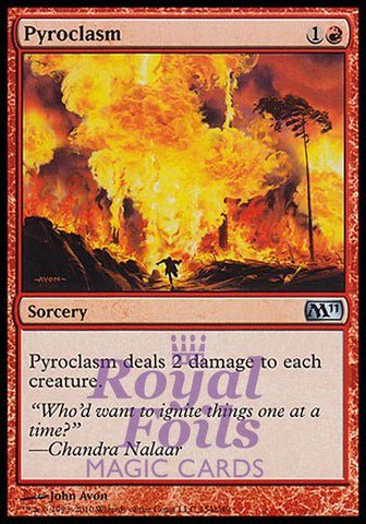 **1x FOIL Pyroclasm** MTG M11 Core Set Uncommon MINT red