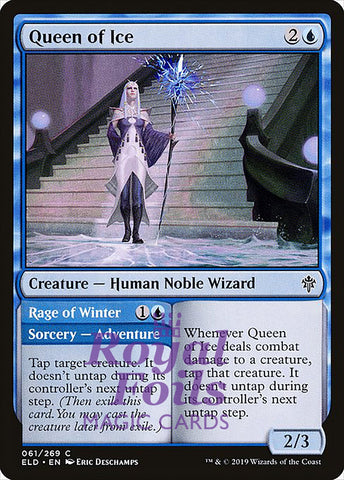 **4x FOIL Queen of Ice** ELD MTG Throne of Eldraine Common MINT blue