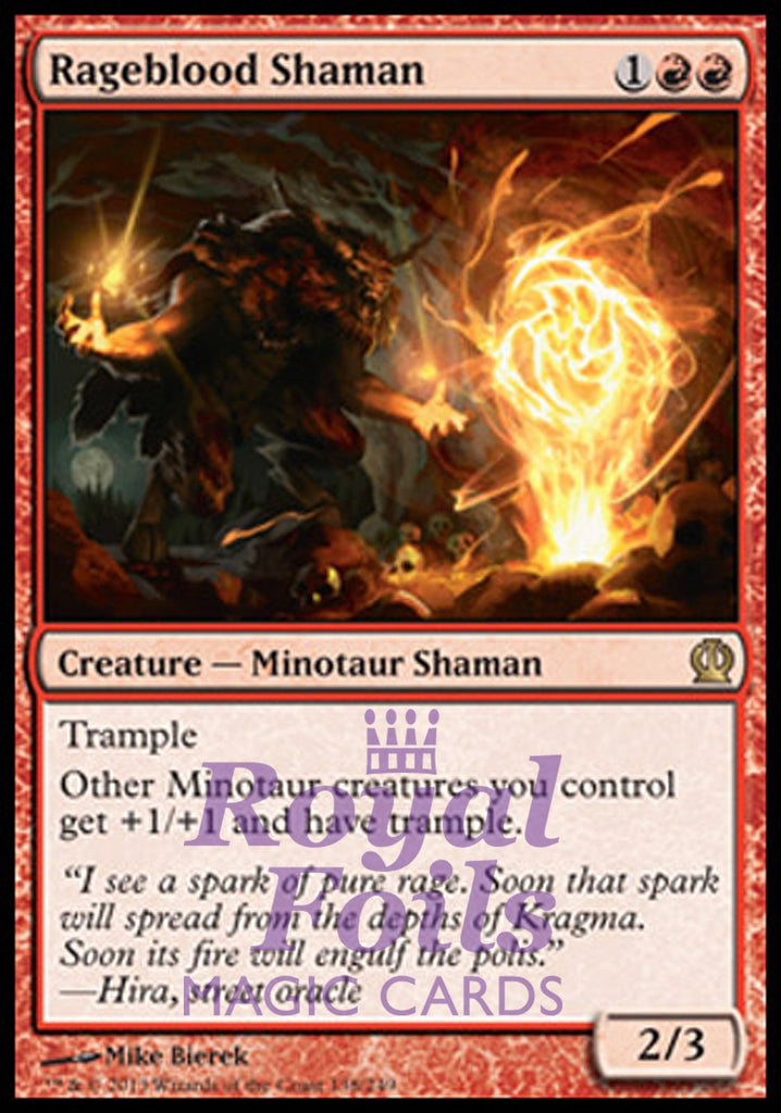 **1x FOIL Rageblood Shaman** THS MTG Theros Rare MINT red
