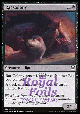 **1x FOIL Rat Colony** DOM MTG Dominaria Common MINT black