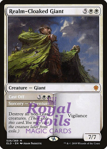 **1x FOIL Realm-Cloaked Giant** ELD MTG Throne of Eldraine Mythic MINT white