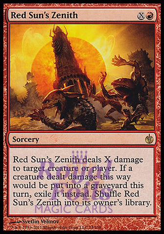 **1x FOIL Red Sun's Zenith** MBS MTG Mirrodin Besieged Rare MINT red