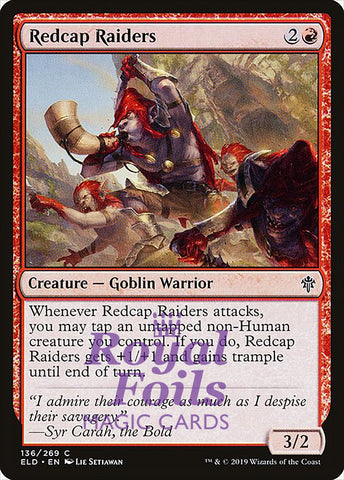 **4x FOIL Redcap Raiders** ELD MTG Throne of Eldraine Common MINT red